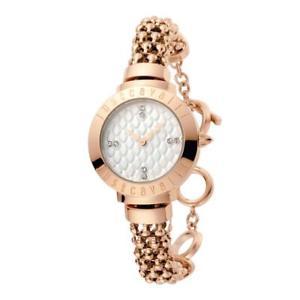 【送料無料】orologio solo tempo donna just cavalli acciaio pvd rosa cristalli jc1l048m0055