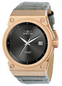 【送料無料】invicta womens akula 100m rose gold tone s steel grey leather watch 24463