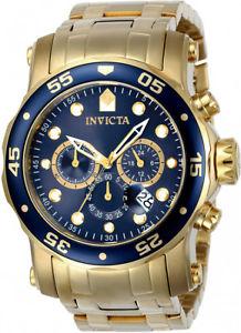 【送料無料】invicta mens pro diver quartz chrono 200m gold tone stainless steel watch 23651