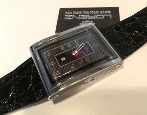 【送料無料】orologio uomo lorenz,tb7,eta swiss made,fibra carbonio,vetro zaffiro,coccodrillo