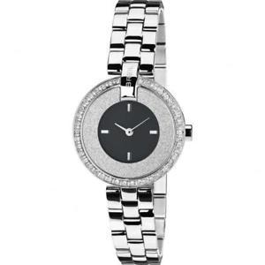 【送料無料】orologio donna breil breilogy tw1447 bracciale acciaio nero silver swarovski