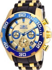 【送料無料】invicta 22343 gents yellow steel amp; silicone strap chrono watch