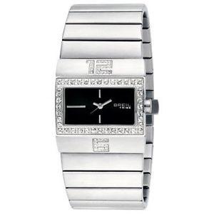 【送料無料】orologio breil tribe donna acciaio satinato cristalli tw0457 nuovo watch steel