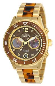 【送料無料】invicta 24706 womens angel yellow steel amp; resin bracelet watch