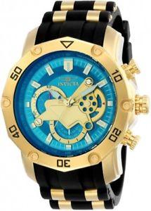【送料無料】invicta 23426 mens chrono steel amp; silicone strap quartz watch