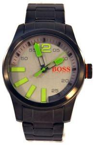 neues angebot195 hugo boss orange mens paris ion grey ss bracelet watch 1513050 nwt