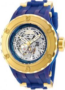 【送料無料】 mens invicta 25131 subaqua 52mm bluegold rubber strap watch