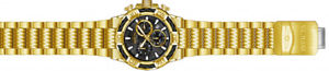 invicta mens bolt quartz chrono 100m goldplated stainless steel watch 25867