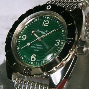 【送料無料】vostok amphibian, amphibia custom russian auto dive watch, , boxed, uk seller