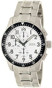 steel stainless chronograph guess 【送料無料】 ss u15087g1 watch bracelet silver mens