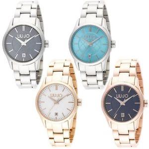 【送料無料】orologio solo tempo donna liu jo collezione tess acciaio oro blu turchese bianco