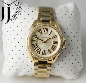 【送料無料】 michael kors kacie crystal amp; yellow gold watch mk6184