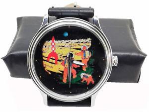 【送料無料】rare tintin explorers of the moon commemorative art limited edition wrist watch