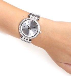 【送料無料】michael kors silvertone darci watch