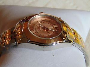 invicta angel 32mm brushed amp; polished 18k ip rose gold amp; stainless steel watch
