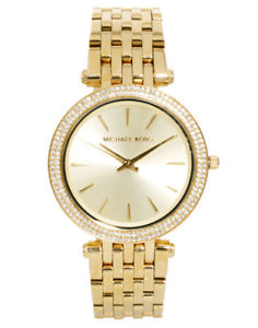 【送料無料】michael kors mk3191 womens darci gold tone glitz 3hand analog watch