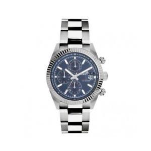 【送料無料】orologio uomo lorenz ginevra 030094cc chrono bracciale acciaio blu sub 100mt