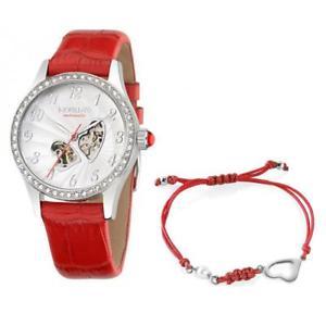 【送料無料】orologio automatico bracciale morellato amore r0121109509 pelle rosso