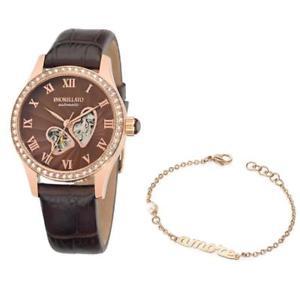 【送料無料】orologio automatico bracciale morellato amore r0121109510 pelle marrone
