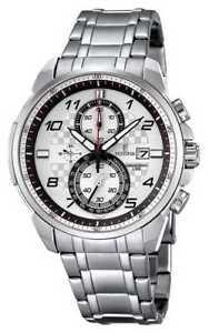 【送料無料】festina mens chronograph stainless steel bracelet f68422 watch 34