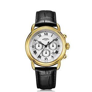 【送料無料】rotary gs0533321 white canterbury chronograph wristwatch