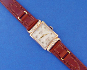 【送料無料】*serviced*mens elgin 1952 awesome majestic *crown* design lugs amp; minty movement