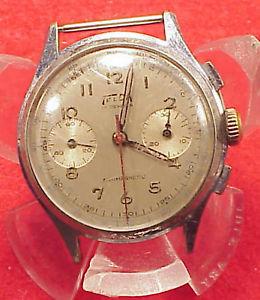 【送料無料】1960s vintage telda 17j chronograph, venus 188 movement 35mm runs adjust chrono
