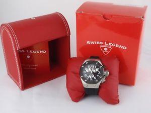 【送料無料】swiss legend mens trimix diver collection chronograph silicone strap watch runs