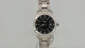 【送料無料】altanus geneve orologio 16102 acciaio 5atm data quarzo nero watch swiss made