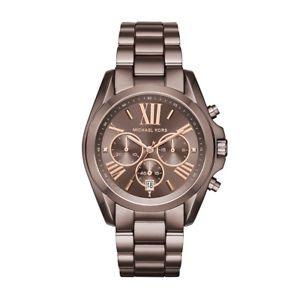 【送料無料】michael kors mk6247 oversized bradshaw chronograph watch brown stainless steel