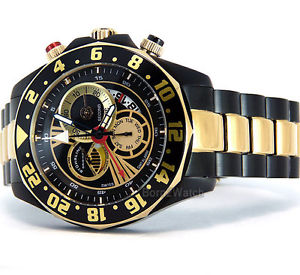 stuhrling original watch  swiss gmt alarm power reserve 46mm   287332m230