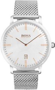 【送料無料】 hugo boss hb 1513481 mens tradition mesh watch 2 year warranty