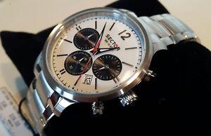 orologio uomo cronografo sector,acciaio 42mm,chrono e data,100 metri,idea regalo