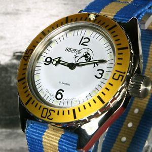 vostok amphibian,amphibia custom russian auto dive watch, scuba dude, , boxed