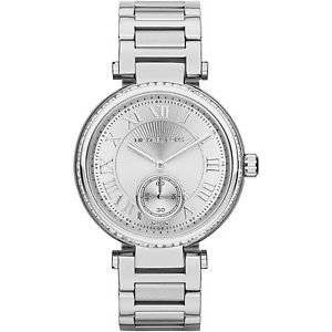 【送料無料】** michael kors mk5866 ladies silver crystals skylar watch 2 years warranty