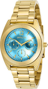invicta womens angel chronograph 100m gold tone stainless steel watch 23753