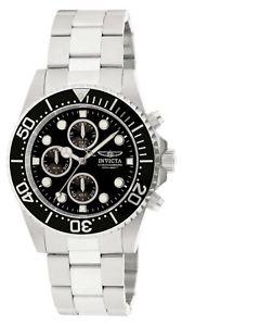 【送料無料】invicta 1768 mens pro diver steel coin edge bezel chrono watch