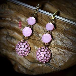 【送料無料】ピアス ピアス ピンクミニクリップレトロohrringe clips runde rosa mini perle retro original ehe geschenk e4