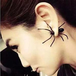 【送料無料】ピアス デハロウィーンスタッドピアス as de55095 2st europaische halloween schwarz charm ohr bolzen ohrringe insekt u