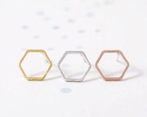 【送料無料】ピアス デスタッドピアス as de58653 hexagon bolzen ohrringe fur frauen hochzeit female copper geometric