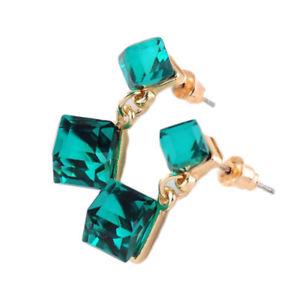 【送料無料】ピアス デオーストリアクリスタルキューブスタッドピアス as de56236 austrian crystal cube bolzen ohrringe fur frauen zink legierung plat