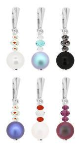 【送料無料】ピアス スワロフスキーパールメイクsterling silber ohhringe gemacht mit 5810 amp; 5040 perle swarovski kristallen