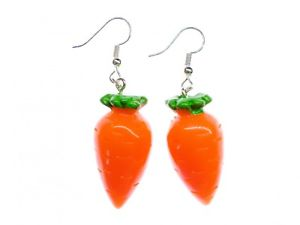 【送料無料】ピアス ピアス ハンガーウサギオレンジkarotte mhre rbe ohrringe hnger miniblings hase gemse 3d orange xl essen