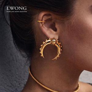 【送料無料】ピアス デビンテージゴールドピアス as de57040 vintage gold farbe crescent moon ohrringe fur frauen copper