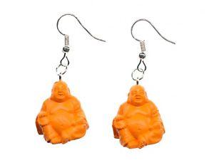 【送料無料】ピアス ヨガピアス チベットオレンジラバーbuddha yoga ohrringe meditation miniblings tibet buddhismus orange gummi 20mm