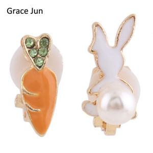 【送料無料】ピアス ピアス ピアス デウサギクリップas de65446 juni tm karotte white rabbit clip auf ohrring ohrring anlage