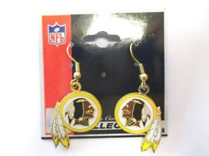 【送料無料】ピアス ワシントンレッドスキンズピアス ハンガーネックレスフットボールwashington redskins ohrringe hnger earrings nfl football