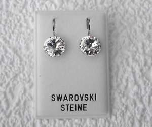 【送料無料】ピアス ピアス スワロフスキークリスタルクリスタルクリスタルクリアクリアピアス neu ohrhnger 10mm swarovski steine crystalkristallklarklar ohrringe