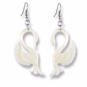 【送料無料】ピアス ピアス ハンドメイドスワンネックレスohrringe handarbeit weisse schwne swan organic earrings er254