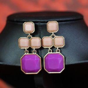 【送料無料】ピアス ピアス ピンクキャンドルホルダースクエアohrringe rosa violett kerzenhalter quadrat original ehe geschenk dd 2